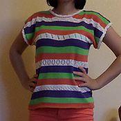 """Одежда ручной работы. Ярмарка Мастеров - ручная работа вязаная блуза из хлопка """"Краски лета"""". Handmade."""