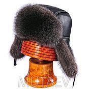 Аксессуары handmade. Livemaster - original item Men`s Pilot fur hat raccoon fur. Handmade.