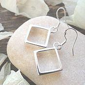 Украшения handmade. Livemaster - original item Earrings diamonds silver, light, light - a gift to the girl/woman. Handmade.