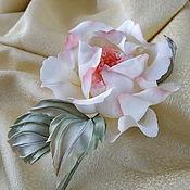 handmade. Livemaster - original item Handmade rose brooch-Buff Beauty brooch fabric flower. Handmade.