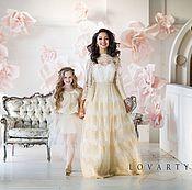 Одежда handmade. Livemaster - original item White wedding dress with gold overflow. Handmade.