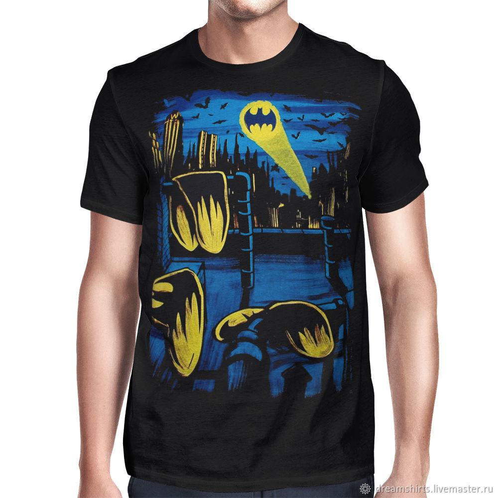 """Футболка хлопковая """"Бэтмен Сальвадора Дали"""", T-shirts, Moscow,  Фото №1"""