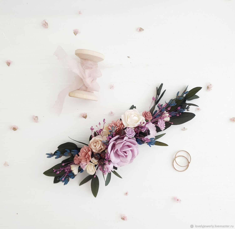 132fe50a750b Цветочная веточка в прическу -Lavender wedding – купить в интернет ...