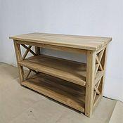 Для дома и интерьера handmade. Livemaster - original item Oak Shoe Cabinet, bench, kolesnica, table from array