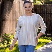 Одежда handmade. Livemaster - original item Knitted blouse viscose color of melted milk. Handmade.