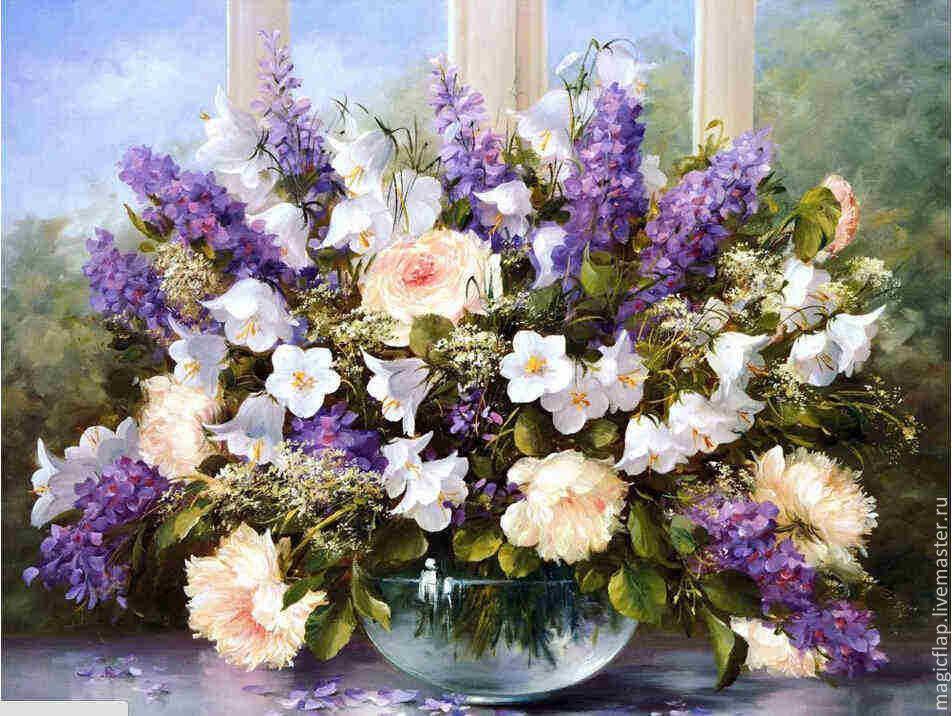Алмазная вышивка картины цветы