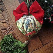 """Подарки ручной работы. Ярмарка Мастеров - ручная работа """"Мухоморчики"""" Большое Интерьерное Сердце и Колокольчик. Handmade."""