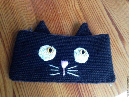 """Пеналы ручной работы. Ярмарка Мастеров - ручная работа. Купить Пенал """"Черный кот"""". Handmade. Чёрно-белый, кот, котик"""