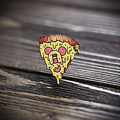Украшения handmade. Livemaster - original item Wooden icon Jake-pizza. Handmade.