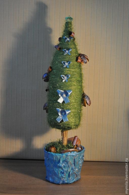 Новый год 2017 ручной работы. Ярмарка Мастеров - ручная работа. Купить Ёлка. Handmade. Зеленый, елочки, новогодний сувенир