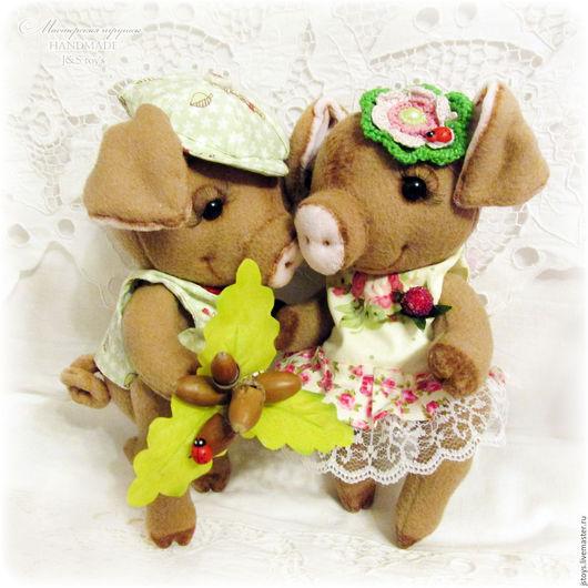 """Игрушки животные, ручной работы. Ярмарка Мастеров - ручная работа. Купить Свинки """"Сладкая парочка"""". Handmade. Поросенок, свинья, хрюшка"""