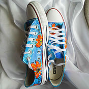 Обувь ручной работы handmade. Livemaster - original item Sneakers Converse (converse) with the painting