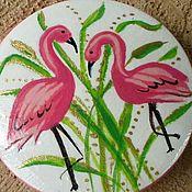 handmade. Livemaster - original item Brooch Flamingo. Wooden brooch. Brooch handmade.. Handmade.