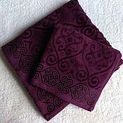 Для дома и интерьера handmade. Livemaster - original item Towel 50x90 cm purple. Handmade.