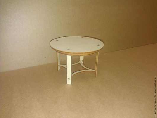 Кукольный круглый стол в масштабе 1:12