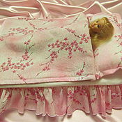Куклы и игрушки handmade. Livemaster - original item Bedding for dolls up to 32cm. Handmade.