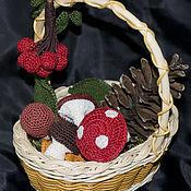 Куклы и игрушки handmade. Livemaster - original item Basket with mushrooms. Handmade.