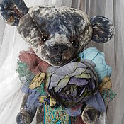 """Куклы и игрушки ручной работы. Ярмарка Мастеров - ручная работа Мишка """"Индиго""""большой.. Handmade."""