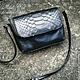 Handbag of genuine leather and Python skin, Classic Bag, Moscow,  Фото №1