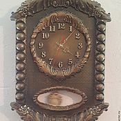Для дома и интерьера handmade. Livemaster - original item Clock for home wall with pendulum