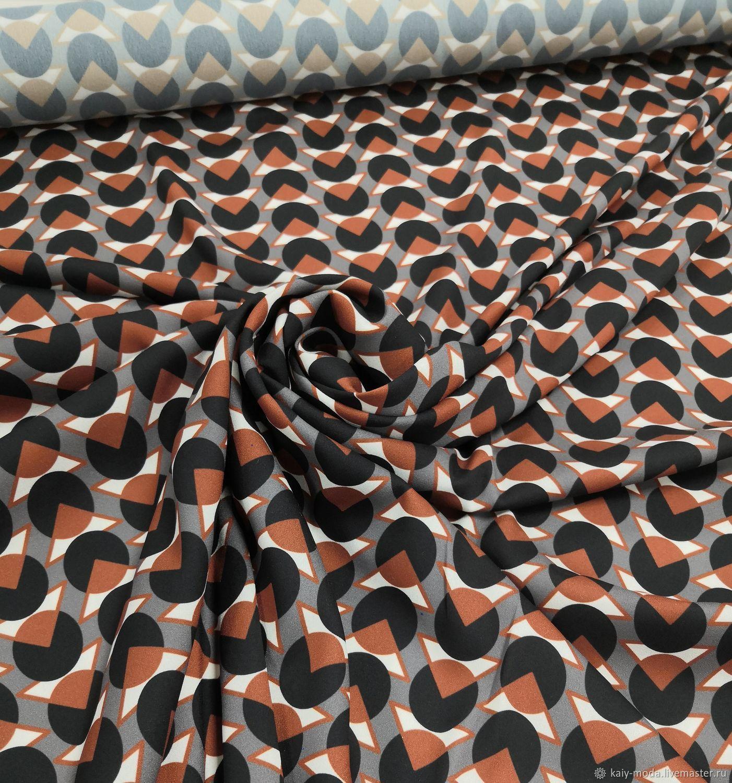 Viscose crepe dress-blotchy, Fabric, Moscow,  Фото №1