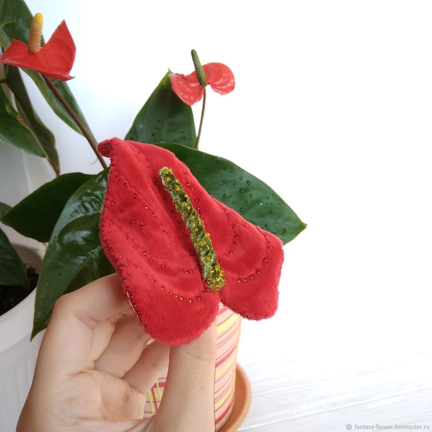 Brooch ' Anthurium', Brooches, Cherkessk,  Фото №1