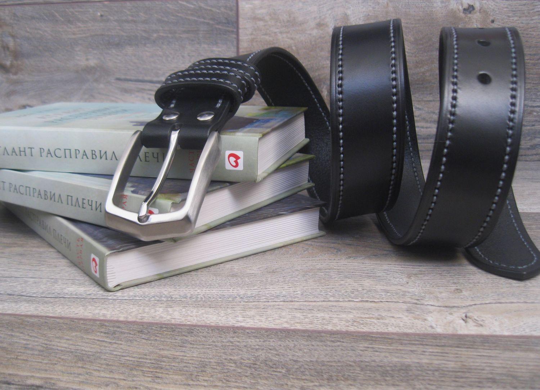Мужской ремень из натуральной кожи (Италия) 40 мм, Ремни, Тверь,  Фото №1