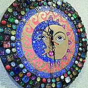 """Часы классические ручной работы. Ярмарка Мастеров - ручная работа Часы - панно """"День и ночь"""". Handmade."""