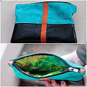 Сумки и аксессуары handmade. Livemaster - original item Organizer handbag made of suede and leather with zipper Different colors!. Handmade.
