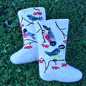 Обувь ручной работы. Ярмарка Мастеров - ручная работа Валенки   Зимние  гости. Handmade.