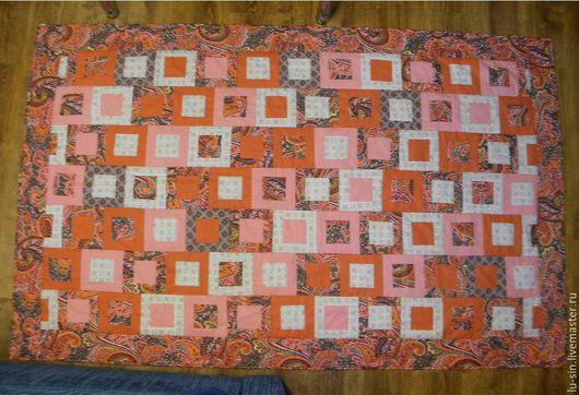 Текстиль, ковры ручной работы. Ярмарка Мастеров - ручная работа. Купить Лоскутное покрывало 160х200. Handmade. Разноцветный, лоскутное шитье