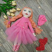 Тыквоголовка ручной работы. Ярмарка Мастеров - ручная работа Текстильная кукла балерина. Textile doll.. Handmade.