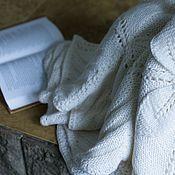 Для дома и интерьера ручной работы. Ярмарка Мастеров - ручная работа Покрывало белое чистошерстяное. Handmade.