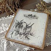 Посуда handmade. Livemaster - original item Cutting boards: Farmhouse. Handmade.