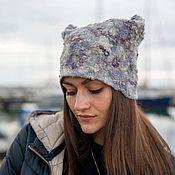 Аксессуары handmade. Livemaster - original item Felted hat with fleece sheep. Handmade.