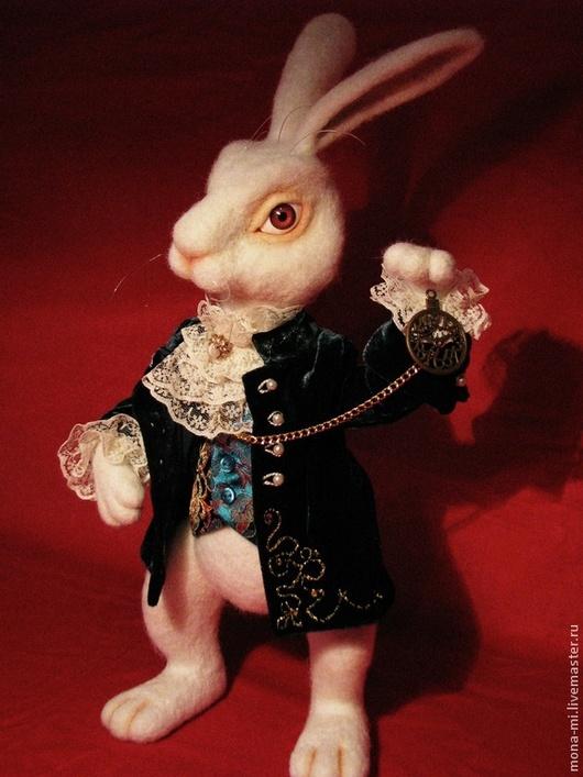 Сказочные персонажи ручной работы. Ярмарка Мастеров - ручная работа. Купить Белый Кролик из Алисы. Handmade. Белый кролик, Валяние
