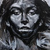 Картины и панно handmade. Livemaster - original item Black and white female portrait. Handmade.