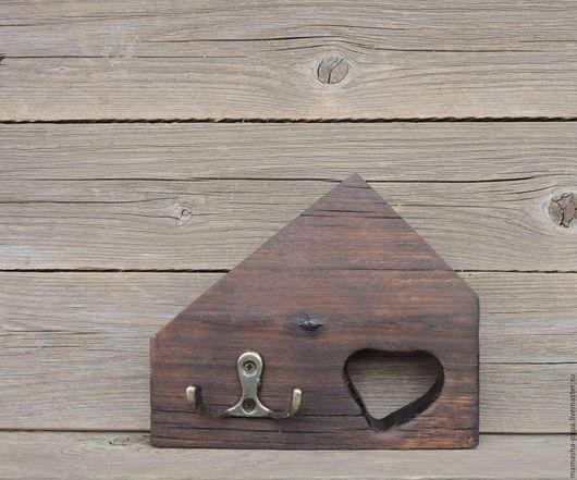 """Прихожая ручной работы. Ярмарка Мастеров - ручная работа. Купить Мини-вешалка """"Ключи от сердца"""". Handmade. Бежевый, декор для интерьера"""