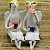 Куклы и игрушки ручной работы. Ярмарка Мастеров - ручная работа Ангелы с бутербродом. Handmade.
