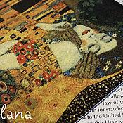"""Канцелярские товары ручной работы. Ярмарка Мастеров - ручная работа Обложка для паспорта """"Климт. Поцелуй."""" Кожа. Декупаж. Handmade."""