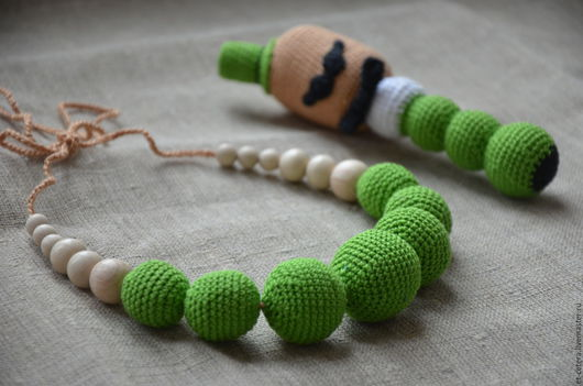 Слингобусы ручной работы. Ярмарка Мастеров - ручная работа. Купить Слингобусы (набор) Джентльмен в зеленом. Handmade. Ярко-зелёный, слингобусы