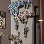 Для дома и интерьера ручной работы. Ярмарка Мастеров - ручная работа Семь слонов счастья. Handmade.