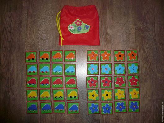 """Развивающие игрушки ручной работы. Ярмарка Мастеров - ручная работа. Купить МНОГОФУНКЦИОНАЛЬНОЕ ПОСОБИЕ """"ПАРОЧКИ"""". Handmade. Развиваем память"""