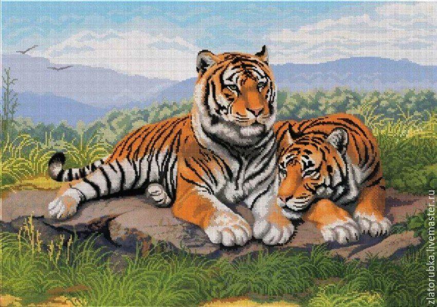 Вышивка бисером тигры наборы