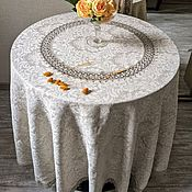 Для дома и интерьера handmade. Livemaster - original item Tablecloth linen 100% rice. Medallion d. .200 cm.. Handmade.