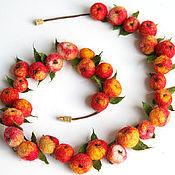 Украшения ручной работы. Ярмарка Мастеров - ручная работа ожерелье яблочки. Handmade.