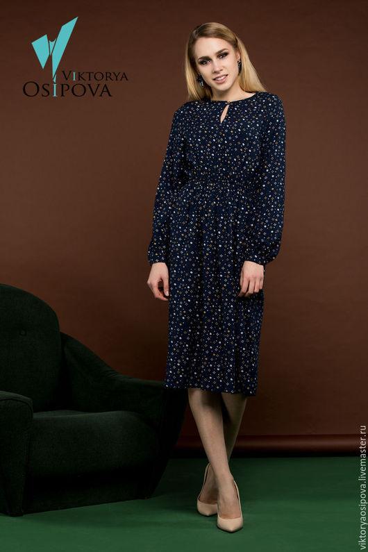 Платья ручной работы. Ярмарка Мастеров - ручная работа. Купить Платье в романтическом стиле. Handmade. Тёмно-синий, романтичное платье