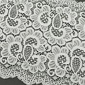 Материалы для творчества handmade. Livemaster - original item Lace: Lace white elastic. Handmade.