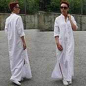 Одежда ручной работы. Ярмарка Мастеров - ручная работа Длинные рубашки из льна / Платье. Handmade.