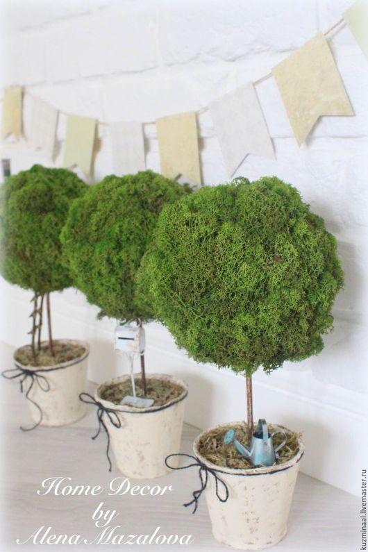 Топиарии ручной работы. Ярмарка Мастеров - ручная работа. Купить Топиарий дерево счастья и плодородия. Handmade. Зеленый, деревья, сизаль